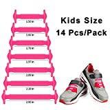 HOMAR No Tie Shoelaces in 13 Colors for Kids - Best in Sports Fan Shoelaces - Elastic Shoe Laces Turn Your Shoes into Slip-on Perfect for Sneaker Boots Oxford Running Shoes - Pink
