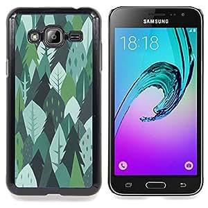 Stuss Case / Funda Carcasa protectora - Alberi Foresta Natura Verde Disegno Estate - Samsung Galaxy J3 GSM-J300