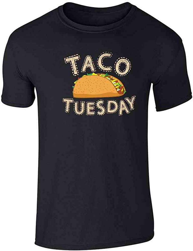 Taco Tuesday Funny Meme Mexican Food Pun Bell Graphic Tee T-Shirt for Men