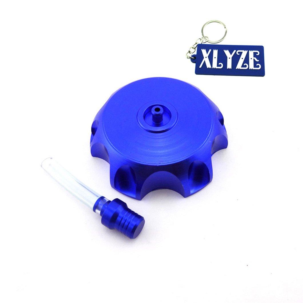xlyze CNC Gas Benzin Kraftstoff Deckel des-Panzer Blau f/ür 125/cc 140/cc 150/cc IMR Kayo CRF50/Atomik Stomp Coolster SSR Pit Dirt Bike