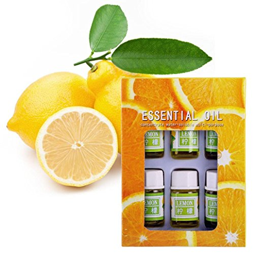 LiPing 6PCS 3ml Fragrance Natural And Pure Premium Essential Oil Promote Deep Sleep-Natural Essential Oils Aromatherapy Scent Skin Care- Relieve Stress Scent Skin Care (G:lemon) from LiPing