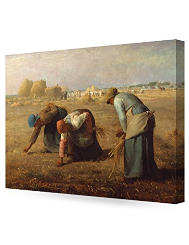 DECORARTS - The Gleaners, Jean-Francois Millet Art Reproduction. Giclee Canvas Prints Wall Art for Home Decor 30x24 x1.5