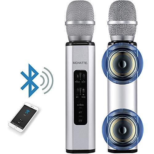 MCHATTE Bluetooth Karaoke Microphone