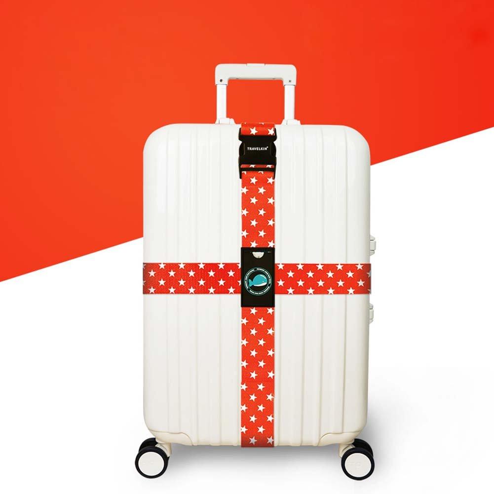 Luggage Strap, Heavy Duty Long Cross Suitcase Belts Adjustable Luggage Cross Strap, 2 Pcs 2 Pcs(1#) Ragdoll50