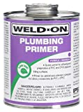 Weld-On 14025 Purple Professional Plumbing Grade PVC/CPVC Primer, Low-VOC, 1 quart Can with Applicator Cap