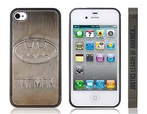 TR BATMAN Ultra-delgada de metal y de plástico para el iPhone 4S (Negro)