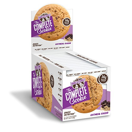 Lenny & Larry's The Complete Cookie, Oatmeal Raisin, Soft Baked, 16g Plant Protein, Vegan, 4-Ounce Cookies (Pack of 12)