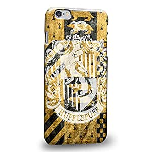 """Case88 Premium Designs Harry Potter & Hogwarts Collections Hogwarts Hufflepuff Sigil Protective Snap-on Hard Back Case Cover for Apple iPhone 6 Plus 5.5"""" (Not 4.7"""" Version !)"""