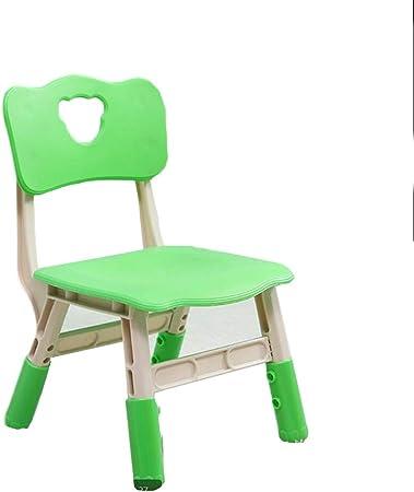 LIANGJUN Juegos De Mesa Y Sillas for Niño Respaldo Pequeño Banco Jardín De Infancia El Plastico Estable Ligero Portátil - Muebles for Niños, 6 Colores (Color : Green, Size : 37.5X33X58CM): Amazon.es: Hogar