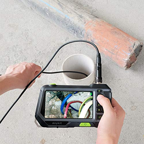 Dual Lens Endoscope Inspection Camera-Anykit NTS500 5.5mm 3 Meter Waterproof Borescope Snake Inspection Tube Camera