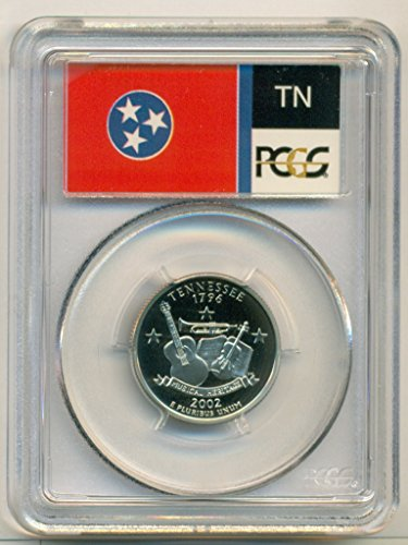 Tennessee State Coin - 2002 S Tennessee State Clad Flag Label Proof Quarter PR70 DCAM PCGS