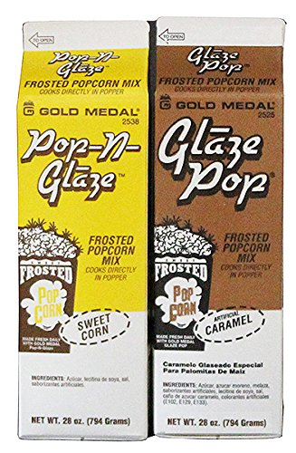 Gold Medal Frosted Caramel & Sweet Kettle Corn Popcorn Glaze Mix Set