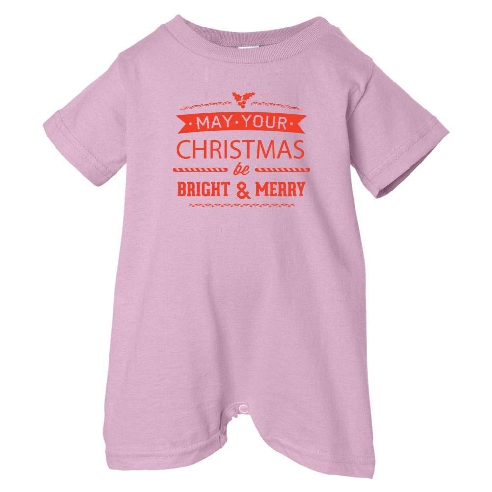 Festive Threads Unisex Baby Christmas Be Bright /& Merry T-Shirt Romper