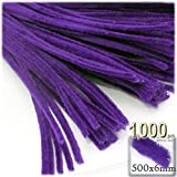The Crafts Outlet Chenille Stems, Pipe Cleaner, 20-inch (50-cm), 1000-pc, Purple