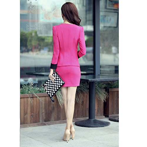 Tailleur Sexy Gonna Red Rose Donna Yinxiang Liying twqxE6vv