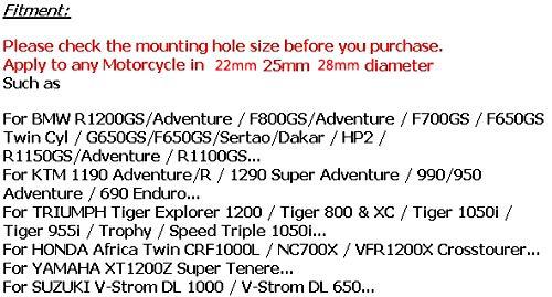 RONSHIN 25mm Moto Bumper Engine Protecteur Garde Crash Bars Bloc d/écoratif D/émontage pour BMW KTM Honda Suzuki Yamaha