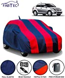 Fabtec Car Body Cover for Maruti Swift Dzire (2012-2016) with Mirror Antenna Pocket Storage Bag (Red & Blue)