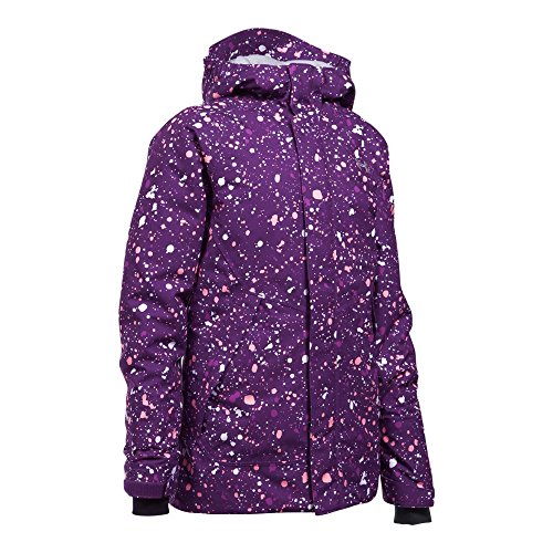 Under Armour Outerwear Youth Girls Cold Gear Infrared Power Line Ins Jacket, Indulge/Overcast Gray, Medium by Under Armour