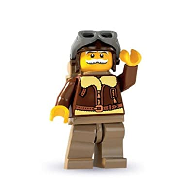Lego: Minifigures Series 3 Old Timer Pilot Mini-Figure: Toys & Games