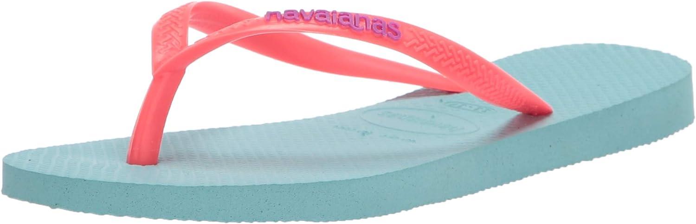 Havaianas Girls Slim Flip Flop Sandals, Logo Pop Up, (Toddler/Little Kid)