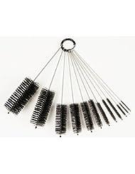 LabRat Supplies (LRS-1280) - 8 Inch Nylon Tube Brush Set, 12 Piece Variety Pack