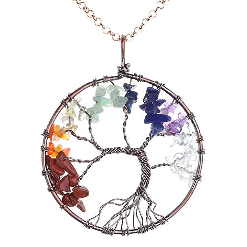 JOVIVI Crystal Quartz Pendant Necklace