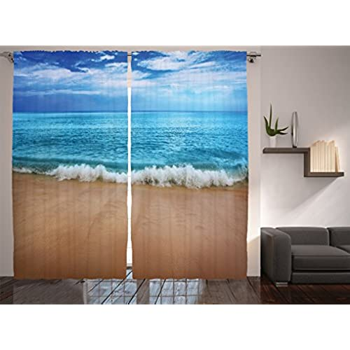 Beach Curtains For Bedroom Amazon