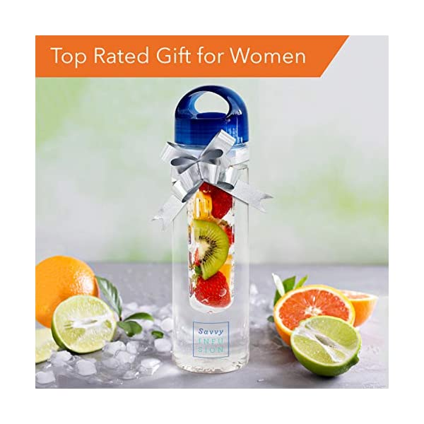 Savvy-Infusion-Water-Bottles-24-or-32-Ounce-Fruit-Infuser-Bottle-Featuring-Unique-Leak-Proof-Silicone-Sealed-Cap-with-Handle-Great-Gifts-for-Women