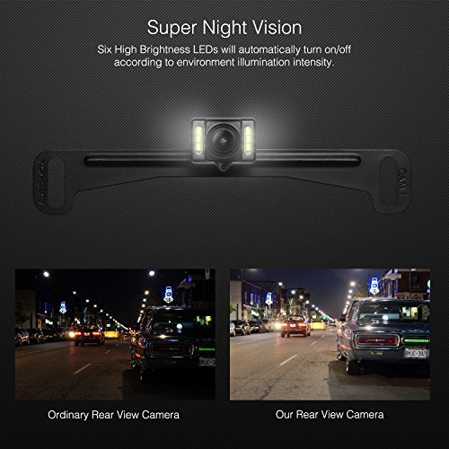 AUTO VOX Wireless Reverse Camera Kit Car Backup Camera with Rear View Mirror Monitor and IP 68 Waterproof Reversing Camera LED Super Night Vision Back Up Car Camera Kit Easy Installation by AUTO-VOX (Image #5)