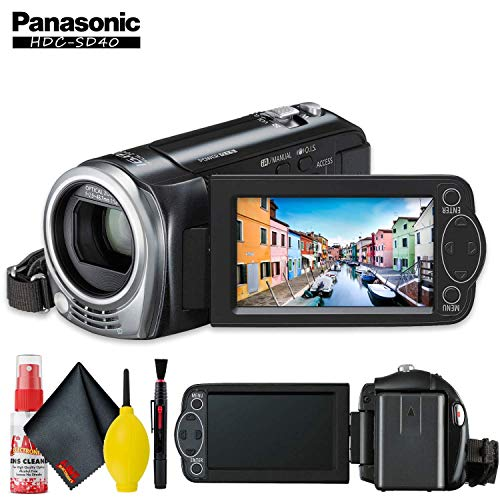 Panasonic HDC-SD40 High Definition Camcorder (Black) with Cleaning Kit (Sd40 Panasonic)