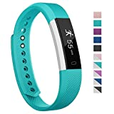 Fitness Tracker,007plus D115 Concise Style Point Touch Activity Tracker (Teal/silver)