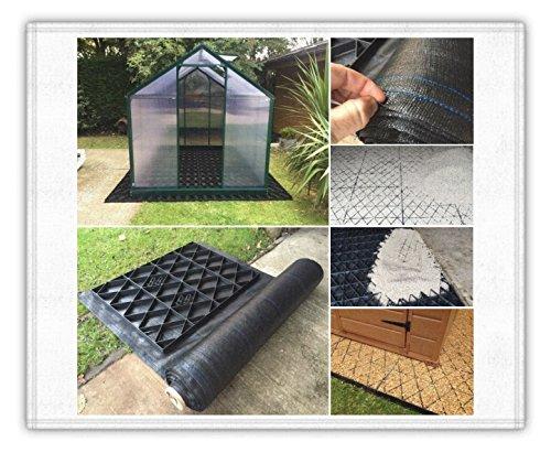 Gewächshaus Base Grid 14x 9= Full Eco Kit 4.3m x 2,77m + Heavy Duty Membran Kunststoff ECO Pflastersteine Grundlagen & Auffahrt Raster