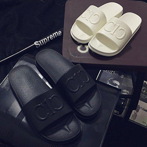 chaussons baignoire antidérapant frais et chaussons restez 42 de de couples femmes au d'été intérieur soft salle mâle des épais noir Accueil bains une paire p7nq4daqw