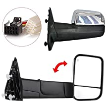 GOWE Pair Chrome Power Heated Towing Mirrors Fit For 2009-2015 Ram 1500 Pickup Signal Light