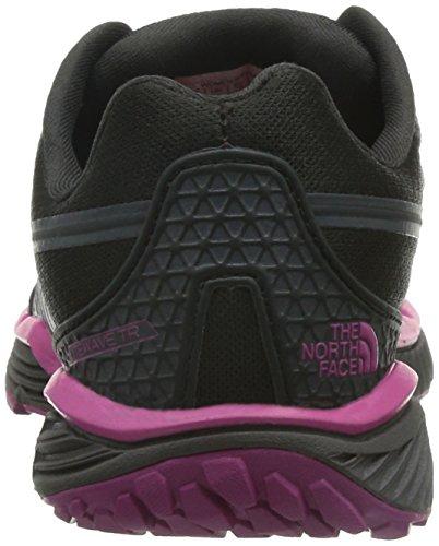 The North Face Women's W Litewave Tr Low-Top Sneakers Black (Tnf Black / Raspberry Rose) U5hiTX