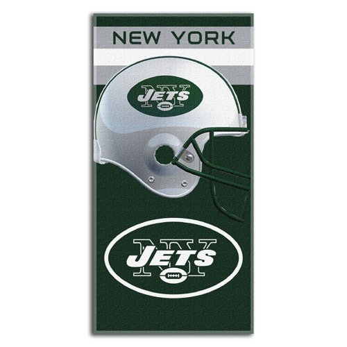 NFL New York Jets Banner Beach Towel, 30 x 60-Inch