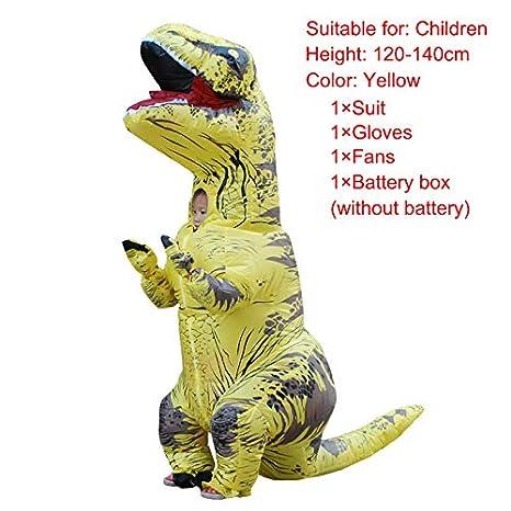 Ferrell Gonfiabile Abiti dei Dinosauri per Adulti Bambini Festa di Natale Cosplay, Costume di Halloween Adult Verde