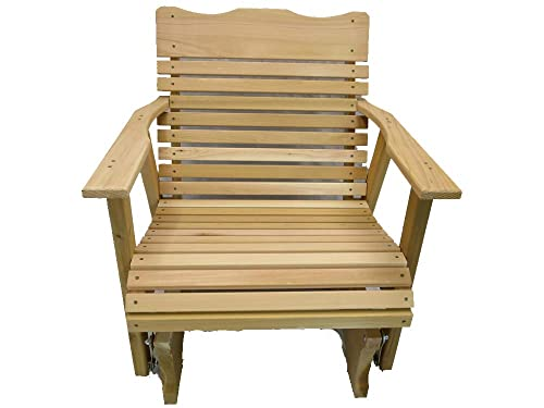 2 Foot Natural Cedar Porch Glider, Amish Crafted