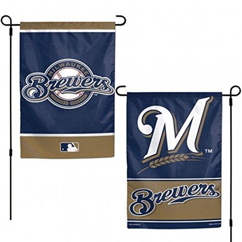 Stockdale Milwaukee Brewers WC GARDEN FLAG Premium 2-sided Outdoor House Banner Baseball