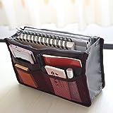 Urban Living Multipocket Handbag Organizer For Easy Bag Switching(30(W) X 18.5(H) X 8.5 (D) Cm,Maroon)