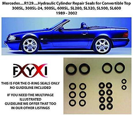Mercedes Benz SL500 SL320 Hydraulic Top Cylinder Repair Kit R129 Roof Seals