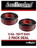 2 Pack 14 Gauge 100 Feet Red Black Stranded 2 Conductor Speaker Wire Car Audio