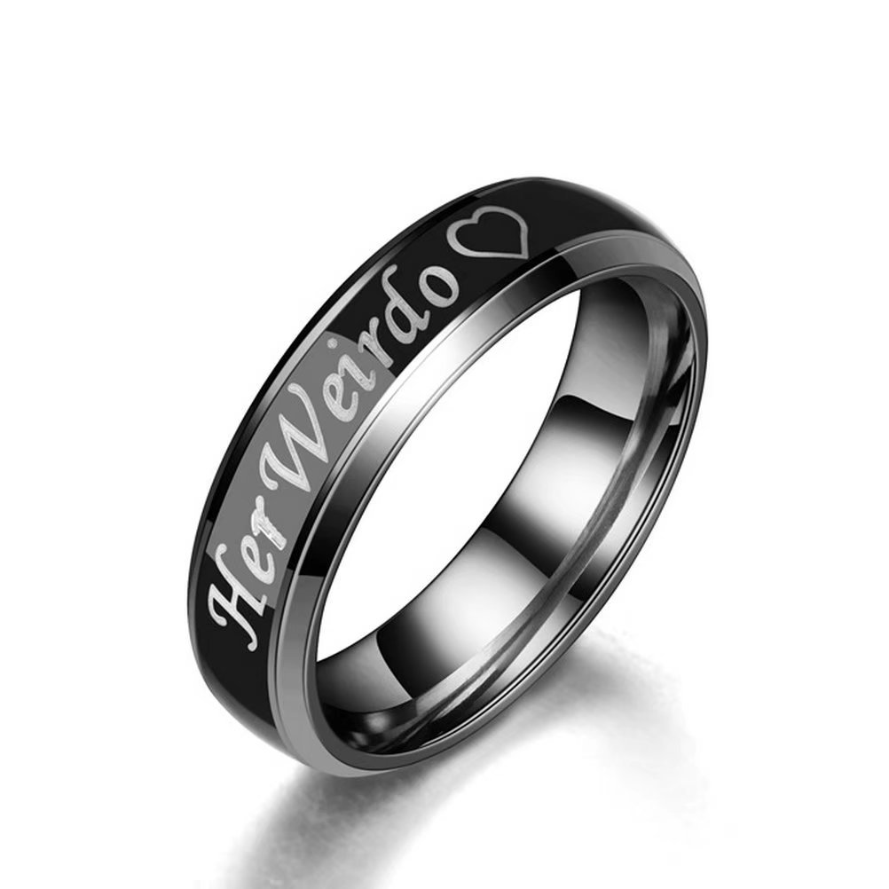 Amazon Fashionlife2018 Titanium Mood Ring Temperature Emotion Feeling Change Color Rings His Crazy Her Weirdo Engagement Promise Couple 6mm: Mood Ring Wedding Ring At Reisefeber.org