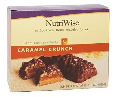 NutriWise - Caramel Crunch Diet Protein Bars (7 bars)