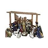 Santa's Workshop 97000 12 Piece Outdoor Nativity Set, Multicolored