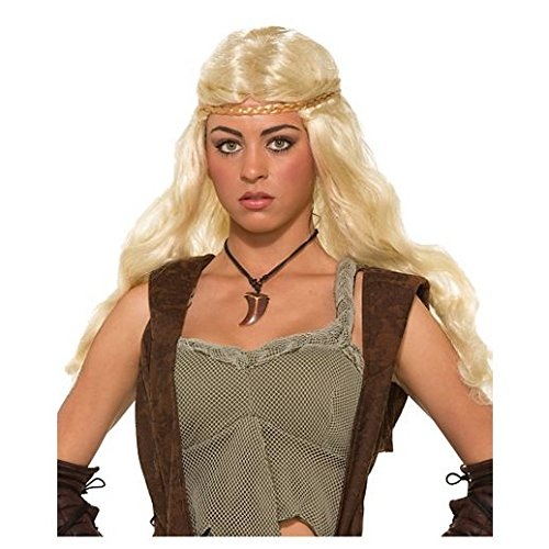 Fancy Face Paint Color Halloween Blonde Medieval Braid (Blonde Couple Halloween Costumes)