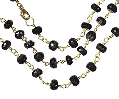 Spinel Faceted Necklace Gold-tone Links 20 Inch