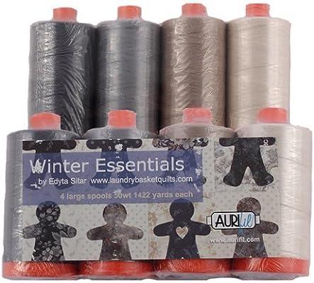 Aurifil Thread 4 large Spools 50wt Cotton QUILTERS ESSENTIALS Neutrals By Edyta Sitar by Aurifil 1422 yard