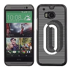 Cubierta protectora del caso de Shell Plástico    HTC One M8    0 Lines Black White O Zero Nothing @XPTECH
