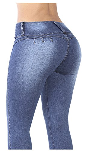 Curvify 764 Women's Butt-Lifting Skinny Jeans | High-Rise Waist, Brazilian Style Faded Washed 13